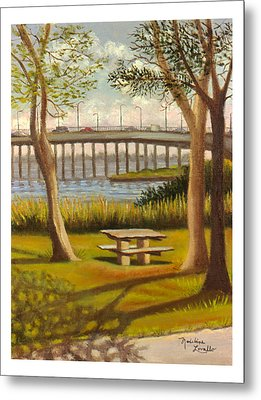A View Of Crossbay Bridge Metal Print