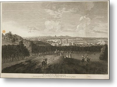 A View Of Greenwich Park Metal Print by British Library