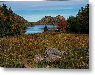 A View Of Jordan Pond Metal Print
