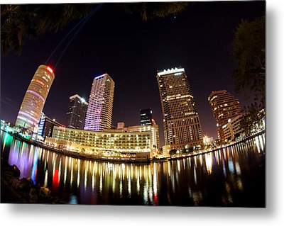 A View Of Tampa And The Hillsborough River Metal Print