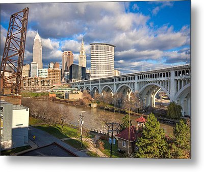 Metal Print featuring the photograph A View Of The City by Brent Durken