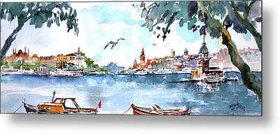 A View Of The Historical Peninsula From Uskudar - Istanbul Metal Print by Faruk Koksal