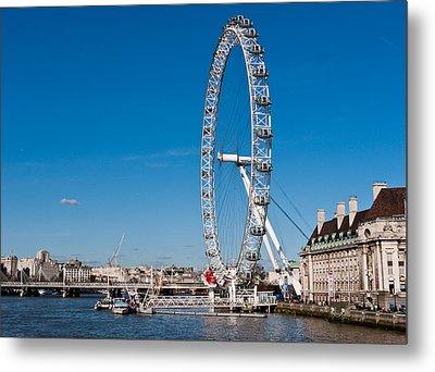 A View Of The London Eye Metal Print