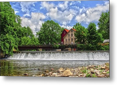 Metal Print featuring the photograph A View Of The Mill From The River by Debra Fedchin