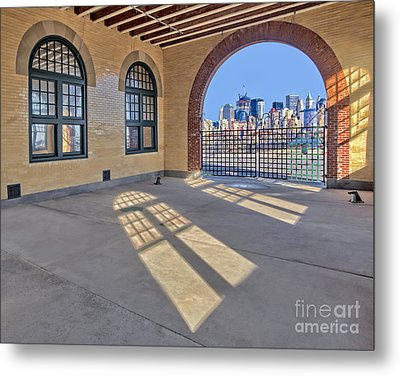 A View To Nyc Metal Print by Susan Candelario