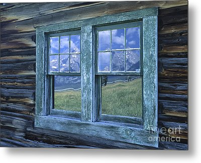 A View To The Tetons Metal Print by Sandra Bronstein