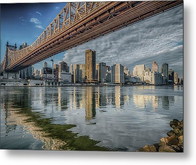 A View Under The Bridge Metal Print by Linda Karlin