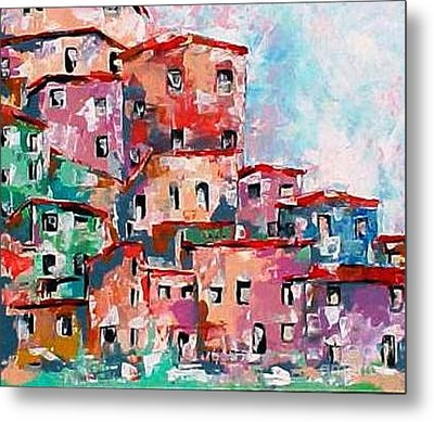 A Village By The Sea Metal Print by Robert Stagemyer