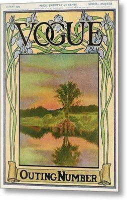 A Vintage Vogue Magazine Cover Of A River Metal Print