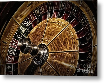 Metal Print featuring the photograph A Virginia City Roulette Wheel by Brad Allen Fine Art
