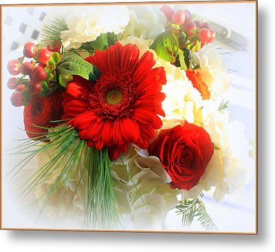 A Vision In Red Metal Print by Dora Sofia Caputo Photographic Art and Design