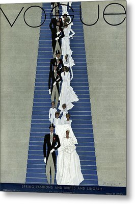 A Vogue Cover Of A Wedding Party Metal Print