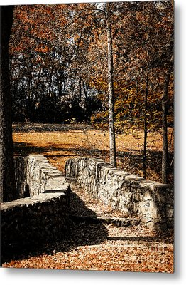 A Walk Along The Old Stone Path Metal Print by Lincoln Rogers