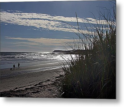 A Walk By The Sea Metal Print by George Cousins