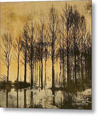 A Walk In France- Lithograph Metal Print