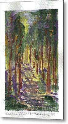 A Walk In The Park Metal Print by Debbie Wassmann