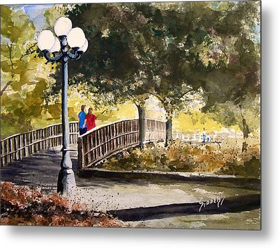 A Walk In The Park Metal Print by Sam Sidders