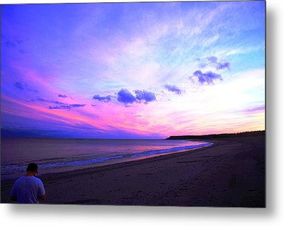 A Walk On The Beach Metal Print