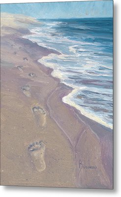 A Walk On The Beach Metal Print by Lucie Bilodeau