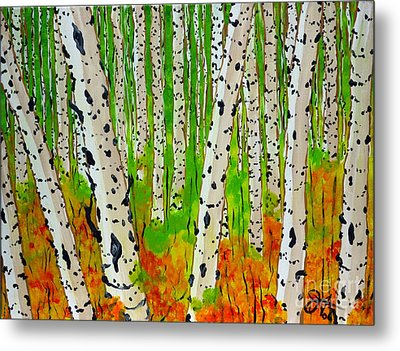 A Walk Though The Trees Metal Print by Jackie Carpenter