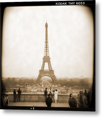 A Walk Through Paris 5 Metal Print