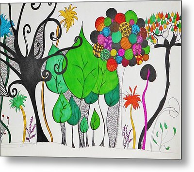 A Walk Through The Park Metal Print by Lori Thompson