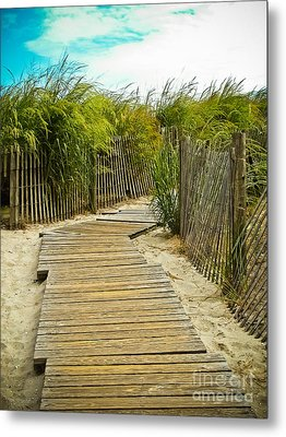 A Walk To The Beach Metal Print by Colleen Kammerer