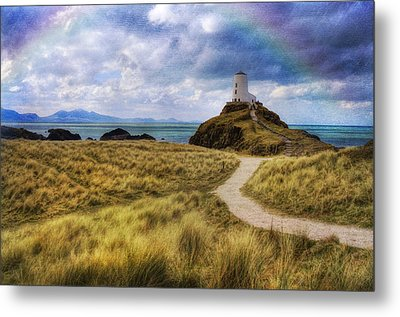 A Walk To The Lighthouse Metal Print by Ian Mitchell