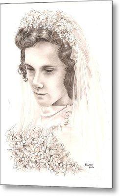 A War Bride Metal Print by Manon  Massari