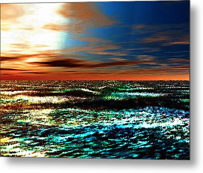 A Warm And Gentle Sunrise Metal Print by Rebecca Phillips