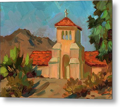 A Warm Day At Borrego Springs Lutheran Metal Print by Diane McClary