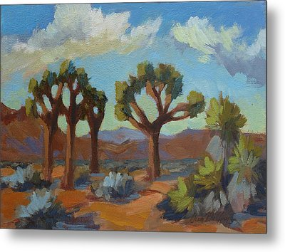 A Warm Morning At Joshua 2 Metal Print by Diane McClary