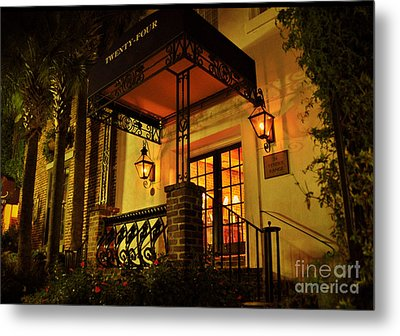 Metal Print featuring the photograph A Warm Summer Night In Charleston by Kathy Baccari