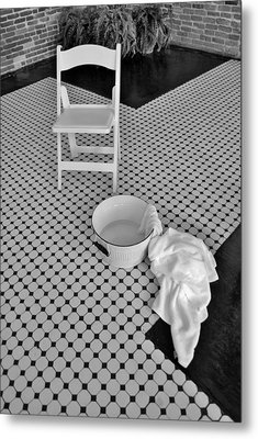 A Washing Of The Feet Metal Print