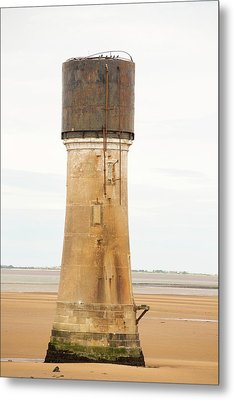 A Water Tower At Spurn Point Metal Print by Ashley Cooper