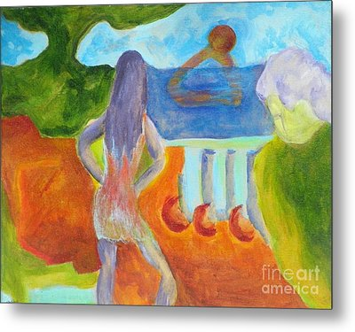 Metal Print featuring the painting A Way To Sea- Caprian Beauty Series 1 by Elizabeth Fontaine-Barr
