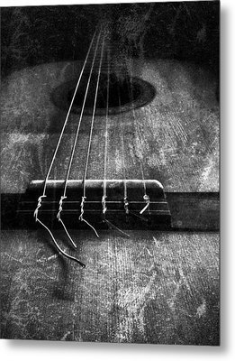 A Well Played Guitar Metal Print