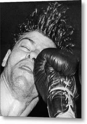 A Welterweight Uppercut Metal Print by Underwood Archives