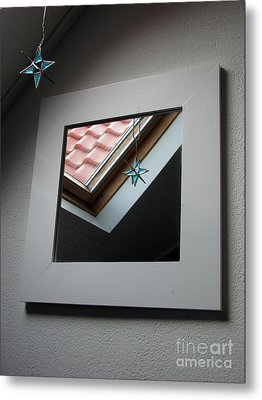Metal Print featuring the photograph A Window To Parallel World by Ausra Huntington nee Paulauskaite