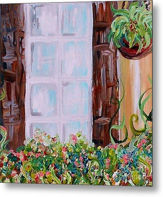 A Window View Metal Print by Eloise Schneider