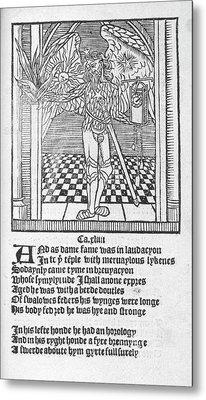 A Winged Male Figure Metal Print by British Library