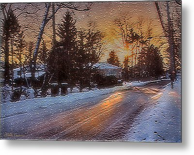 A Winter Sunset Metal Print by Mikki Cucuzzo
