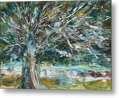 A Winter Tree Metal Print by Mary Wolf