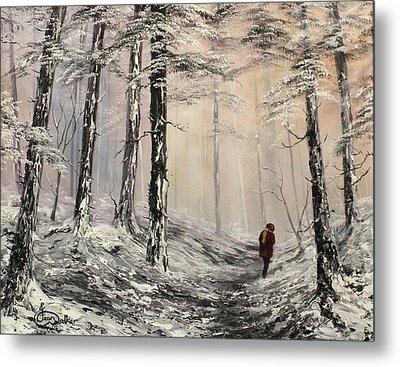 A Winter Walk Metal Print by Jean Walker