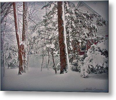A Winter Wonderland Metal Print by Mikki Cucuzzo