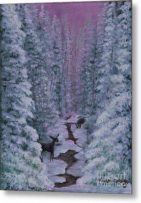 A Winters Journey Metal Print by Kristi Roberts