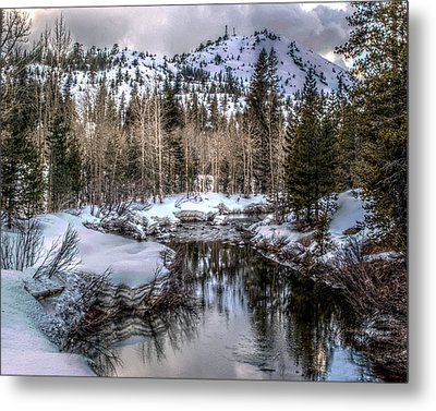Metal Print featuring the photograph A Winters Peace Of Reflection by William Havle