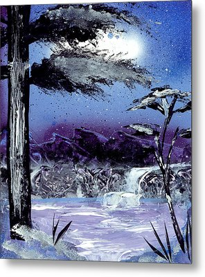 A Winters Valley Metal Print by Marc Chambers