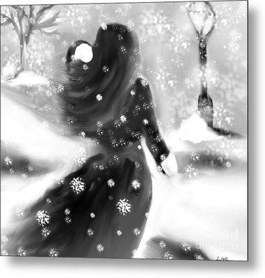 A Winters Walk Metal Print by Lori  Lovetere