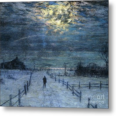 A Wintry Walk Metal Print